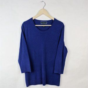 Karen Scott Royal Blue Round Neck Tunic Sweater XL